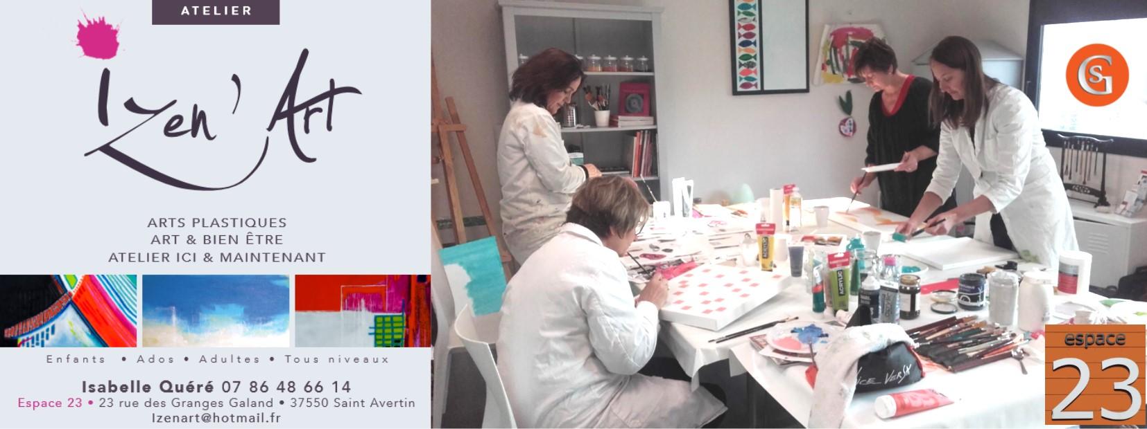 espace-23-saint-avertin-les-salons-galand-atelier-izen-art-isabelle-quere